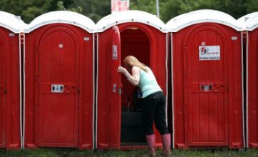 Glastonbury 2011 portable toilet woman: Caption Competition