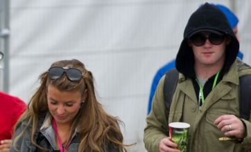 Wayne and Coleen Rooney in Glastonbury Festival 'ruck'