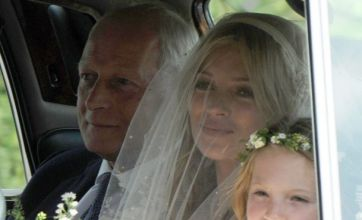 Kate Moss is the blushing bride as she marries Jamie Hince