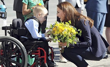 Wheelchair-bound boy, 6, gets to meet his hero Prince William