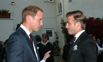 William and David Beckham baby talking as Kate Middleton wows LA