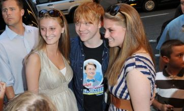 Rupert Grint wears Daniel Radcliffe t-shirt to support his Harry Potter pal