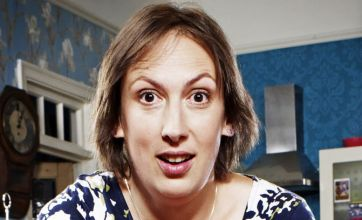 Miranda is the typical clumsy female (Picture: BBC)