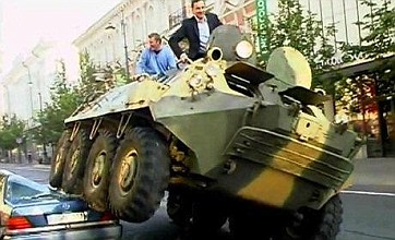 'Mad Mayor' Arturas Zuokas goes on 'crazy tank rampage'