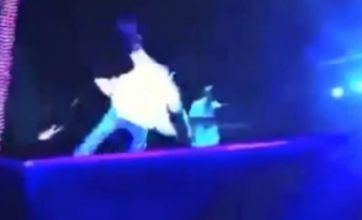 Watch: Kanye West falls on stage at Bergen Calling festival