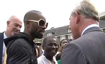 London riots: Prince Charles receives rap CD during visit to Tottenham