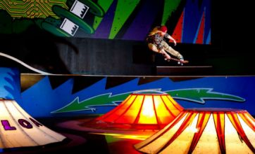 Teenage skaters take arcade game to the park as they aim for high scores