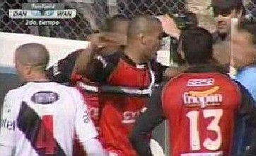 Montevideo Wanderers striker Diogo vents fury at linesman with face slap
