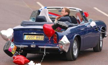 Prince William drove away from royal wedding 'with handbrake on'