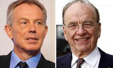 Tony Blair 'godfather to Rupert Murdoch's daughter'