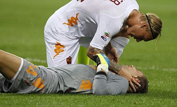 Maarten Stekelenburg 'ok' following brutal Lucio head kick – Video