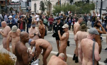 San Francisco holds naked protest as city seeks to ban nudity in restaurants