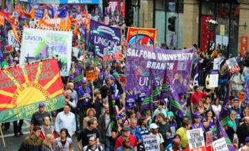 TUC anti-cuts march at Conservative conference attracts 30,000