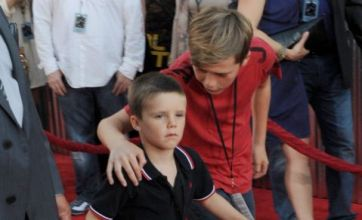 David Beckham's boys enjoy night out with grandad for Real Steel premiere