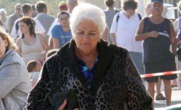 Pam St Clement films final Pat Butcher EastEnders scenes in trademark fur