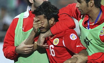 Rashed Al Hooti gets the 'fastest international red card ever' for Bahrain