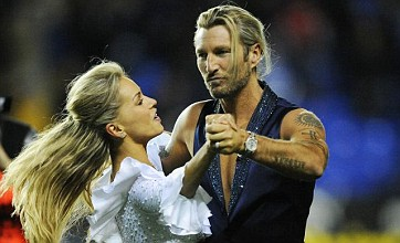 Strictly Come Dancing's Robbie Savage puts on a show for Derby fans