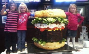 Restaurant creates $2,000 'Absolutely Ridiculous Burger' weighing 338lb