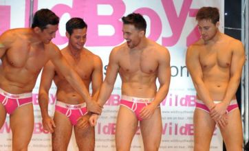 'Pansy' Alex Reid poses in pink pants to promote play Wildboyz