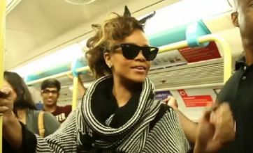 Rihanna 'chills' with fans in video of London Tube journey to O2 Arena