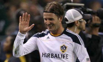 David Beckham inspires LA Galaxy to MLS Cup final place