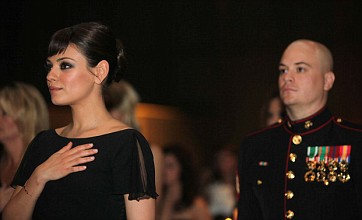 Mila Kunis follows Justin Timberlake in attending US Marine Corps ball