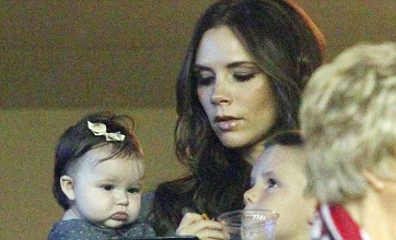 Victoria Beckham and Harper celebrate David Beckham's LA Galaxy win