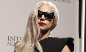 Lady Gaga shows some thigh at International Emmy Awards