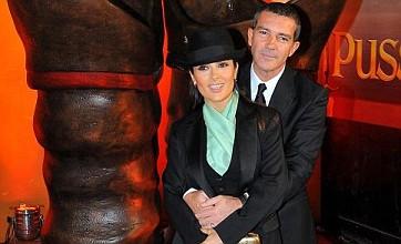 Salma Hayek calls Antonio Banderas 'purr-fect' at Puss In Boots premiere