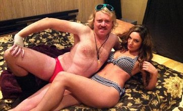 Kelly Brook casts Thom Evans aside to join Keith Lemon in bed on film set