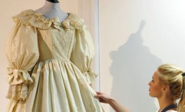 Princess Diana's replica dress is sold for £84,000 at Kerry Taylor Auctions