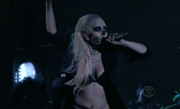 Lady Gaga steals the show dressed as a zombie at Grammy nominations gig