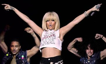 Rihanna is belle of the Jingle Bell Ball as she wows crowd in blonde wig