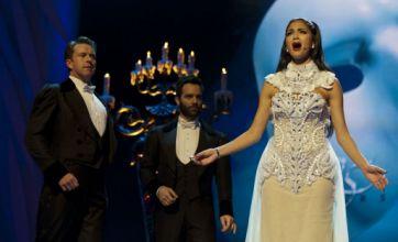 Nicole Scherzinger entertains Princess Anne at Royal Variety Performance