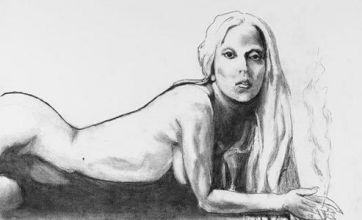 Lady Gaga naked sketch by Tony Bennett up for sale on eBay