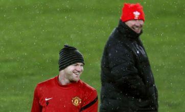 Wayne Rooney mocks Sir Alex Ferguson's boot kick at David Beckham