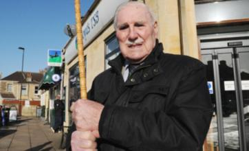Gordon King, 88, takes on armed robbers using his walking stick