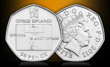 New 50p coin explains offside rule: Special London 2012 Olympic collectables revealed