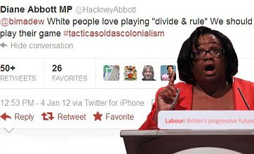 Diane Abbott Twitter 'racism' row prompts calls for her to resign