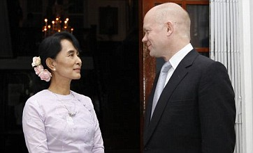 William Hague urges further reforms during visit to Burma
