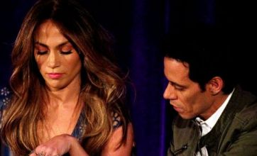 Jennifer Lopez and Marc Anthony in awkward reunion to plug reality show