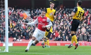 Arsenal's Robin van Persie denies being 'excited' about Real Madrid