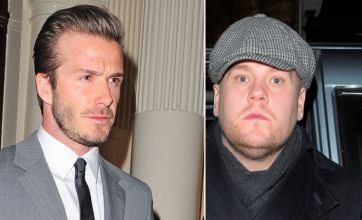 David Beckham forgets to tell James Corden dress code for bash