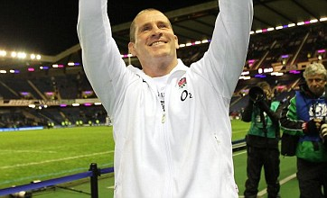 Stuart Lancaster needed stitches after celebrating England's Six Nations win