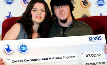EuroMillions couple: We had a hunch we would win £45m jackpot