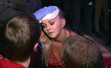 Jennifer Ellison left vomiting after Dancing On Ice accident