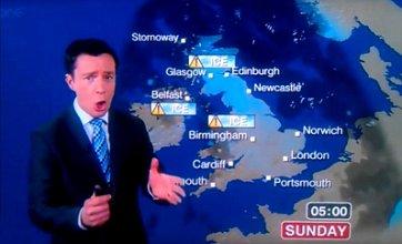 Alex Deakin swears: BBC weatherman promises 'bucket loads of c***' in UK
