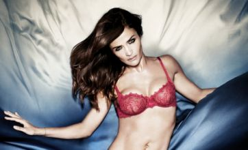 Helena Christensen shows off her supermodel curves for Triumph shoot