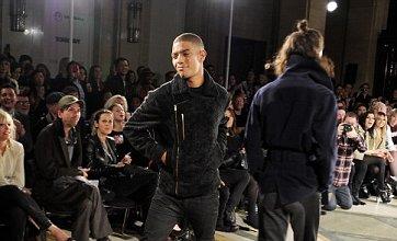 Chloe Green comforts Fazer Rawson after his London Fashion Week catwalk debut