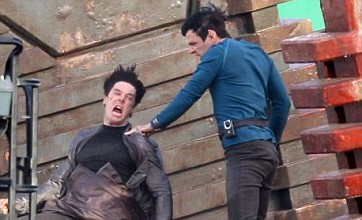 Star Trek 2: First photos show Benedict Cumberbatch fighting Spock